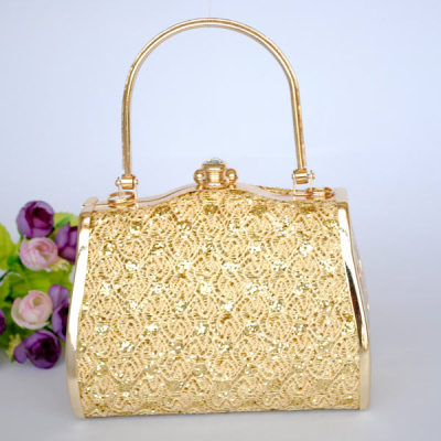 Princess Evening Handbag With Flower Patterns