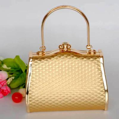 Shiny Princess Evening Handbag With Lozenge Patterns