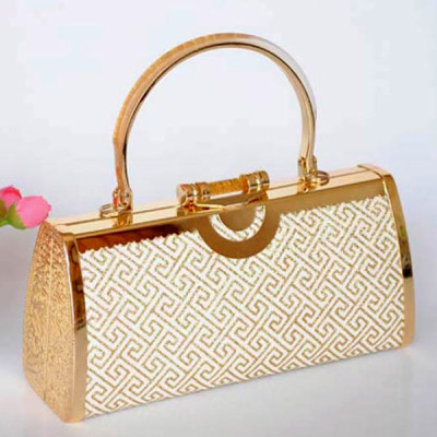 Shiny Princess Evening Handbag With Irregular Patterns