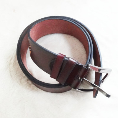 [Free Shipping] Genuine Leather Belt With Line  Patterns