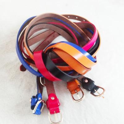 Thin Genuine Leather Belt