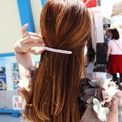 Free Shipping Sweet Classical Serratula Beads Word Folder Hairpin