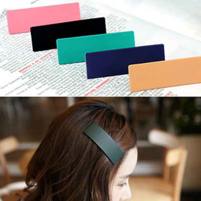 Free Shipping Frosted Oversized BB Clip Candy Color Hairpin