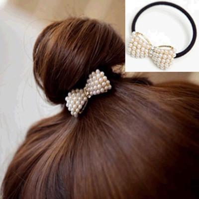 Free Shipping Sweet Cute Wild Little Pearl Bow Headband