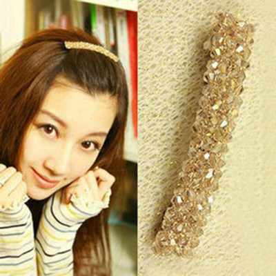 Free Shipping Four Rows Of Crystal Hairpin