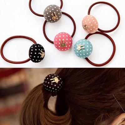 Free Shipping Candy Fabric Polka Dot Sweet Rabbit Dot Bow Headband