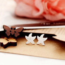 [Free Shipping]   New Ladies Starfish Earrings Delicate Full Drill