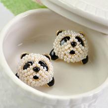 [Free Shipping]  The Sweet Pearl Giant Panda Earrings