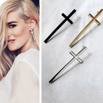 [Free Shipping] Jewelry Wholesale European And American Retro Temperament Cross  Couple Earrings