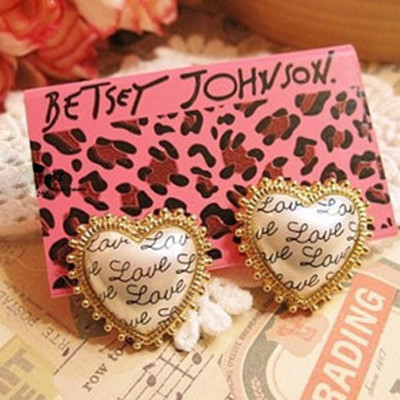 [Free Shipping] Wholesale Jewelry  The New Specials Love Letter Earrings