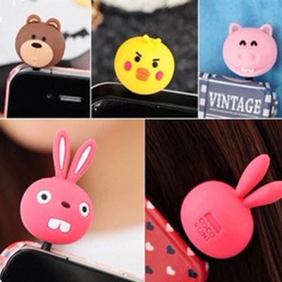 Free shipping Apple the iphone4/4S ipad dustproof Fonseca phone pig rabbit 13g