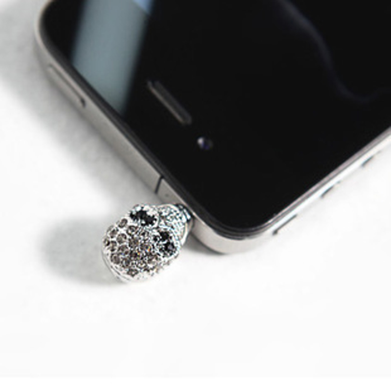 Free shipping Korean handsome cool the diamond skull Iphone Apple mobile phone accessories dustproof