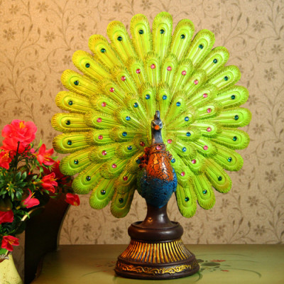 The Peacock opening screen resin ornaments / desktop ornaments / craft gifts Christmas Gift Factory Outlet