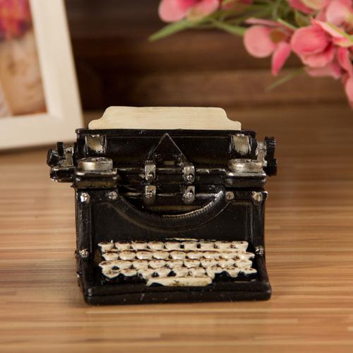 Grocery Nostalgic Ornaments Classic Black-and-white Typewriter Storage Box