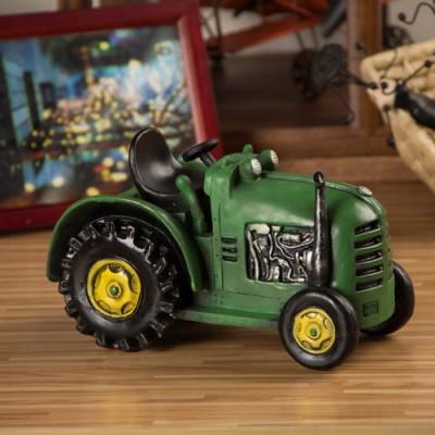 Green Retro Tractor Model Nostalgic Ornaments