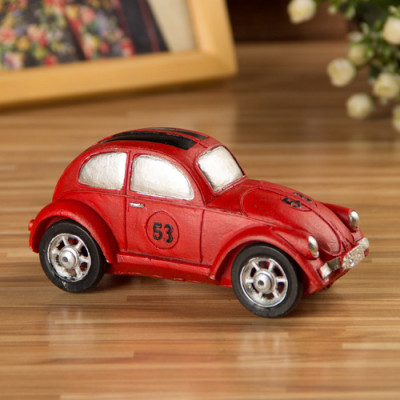 Retro Beetle Model Nostalgic Ornaments Resin Do Old Cars