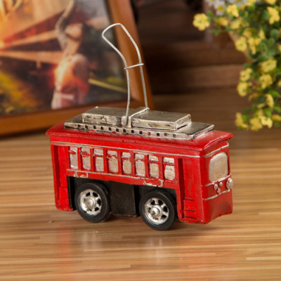 Retro Resin Retro Tram Model Nostalgic Ornaments
