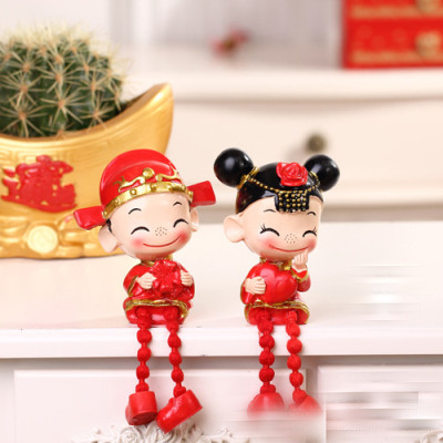 Bride and groom wedding doll ornaments / Ruilian wedding two-piece couple Christmas gifts