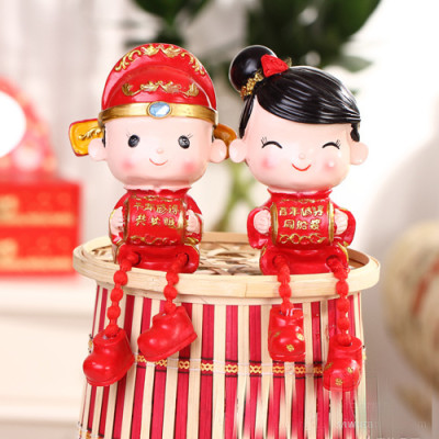 The wedding doll piggy bank wedding ornaments / Ruilian wedding two-piece Couples Series Christmas gifts