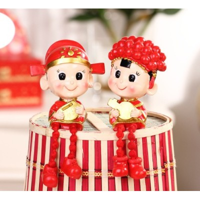 Jinsuo marriage wedding doll ornaments Piece / Ruilian wedding couple series of Christmas gifts