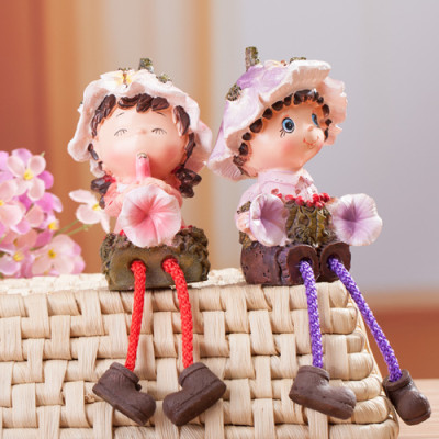 Factory Outlet Garden doll resin the legs hanging doll ornaments Ming porcelain home set from the grant selling