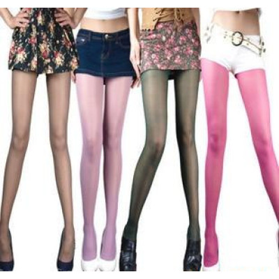 Special For The Ultra-thin Transparent Meat Quality Velvet Pantyhose Color Socks Bottoming Stockings Multicolor
