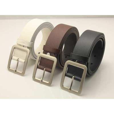 Plain PU Belt Fashion New Design Men's Wholesale Retail