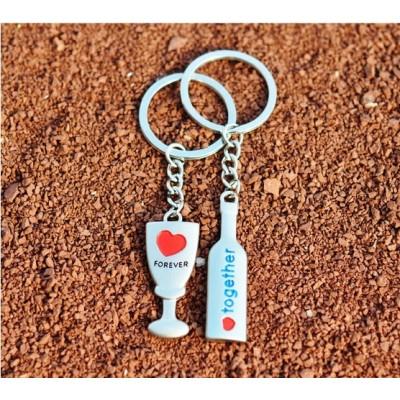 Free Shipping Creative wedding bingo time lovers Keychain wedding gifts cute key pendant