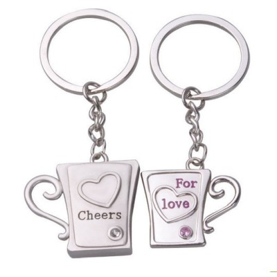 Factory direct creative gift Cheers for love lovers Keychain Key Chain