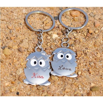 Free Shipping Lovely strange wholesale creative business gift LOVE KISS lovers Keychain Key Ring