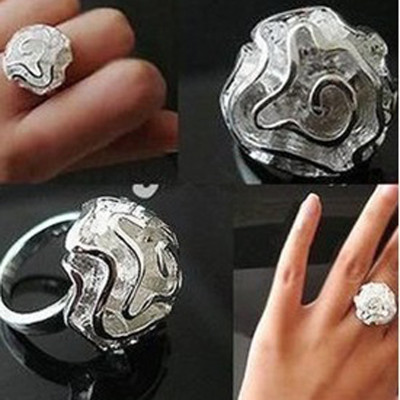 [Free Shipping]M40238 Valentine Korea small jewelry factory outlet hibiscus flowers wholesale roses ring 3g