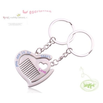 Free Shipping Valentine's Day gift manufacturers selling combs creative fashion is willing to work with you head white with old lovers Keychain Key Ring