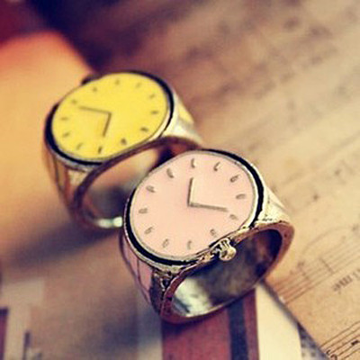 [Free Shipping]M40175 Europe and the United States foreign trade retro candy color small watch Ring Ring 7g 2012 new jewelry
