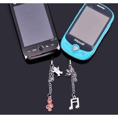 Free shipping The symbol of music fashion lovers mobile phone chain creative Valentine's Day gift of choice for fashionable mobile phone pendant