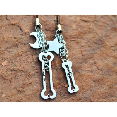 Free Shipping Fashion gifts creative gift LOVE lovers head mobile phone chain creativity Festival gift