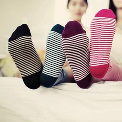 HL2909 Korean the socks cute relent socks pinstripe candy-colored socks women socks cotton socks socks 37g