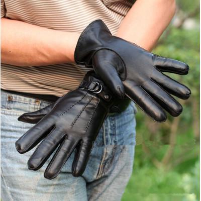 Warm Men's Sheepskin Gloves
