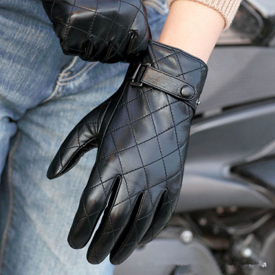 New Fashion Sheepskin Leather Gloves Full Finger
