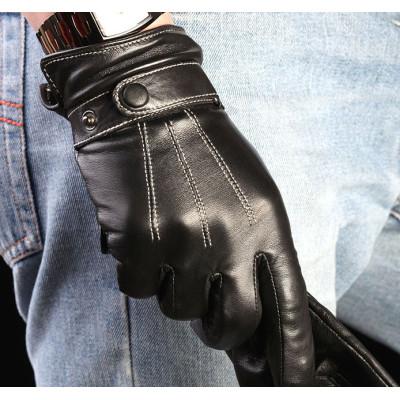 2012 New Men's Warm Winter Leather Sheepskin Gloves