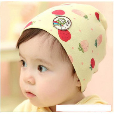Lovely Sweet Strawberry Spring And Autumn Child Hedging Cap