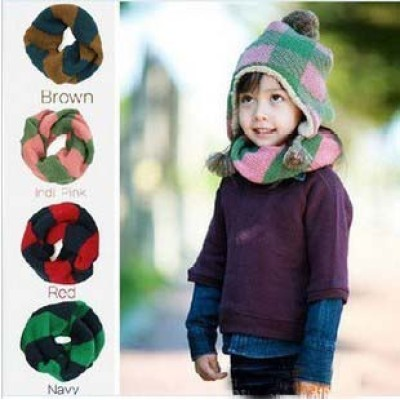 New England Style Warm Winter Wool Children Or Baby Apell Color Scarf