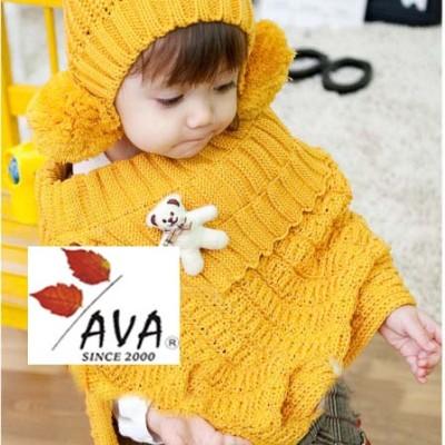 Winter Children Or Baby Warm Shawl Hat Piece Suit