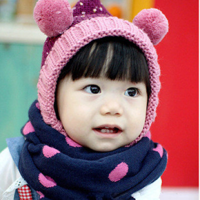 Recommended Multi-colored Dots Children Cravat Autumn And Winter Scarf
