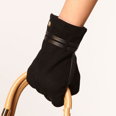 The suede  of Hot sale 2012 new lady leather gloves