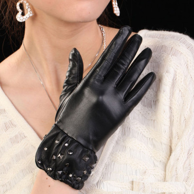 Hot sale sheepskin gloves warm gloves leather glove factory direct custom wholesale