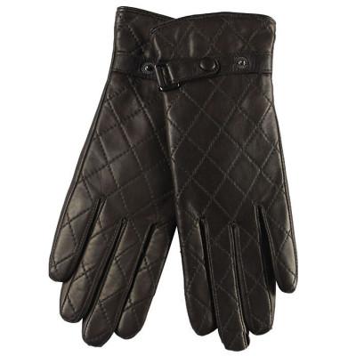 Hot sale women thicker winter sheepskin leather gloves Korean / palm touchscreen gloves