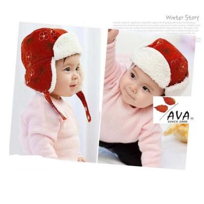Children's Autumn And Winter Warm Printed Corduroy Ear Hat