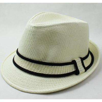 New Breathable Ribbon Corset Jazz Straw Hat
