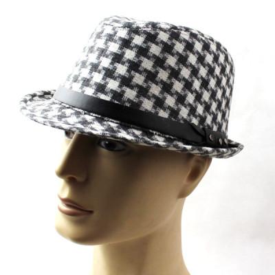 Spring Classic Wild Wool Material Plaid The Elegant Hat