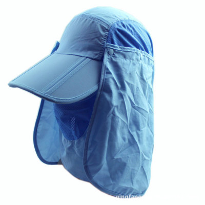 Wholesale outdoor sun hat with mask shawl UV protection sun hat wholesale made B12037